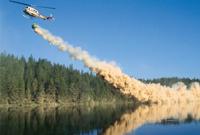 Chaulage aérien d'un Lac, pour atténuer les conséquences des pluies acides