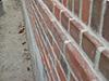 Maçonnerie de parement à la Chaux avec des briques de Leers