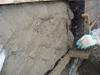 Corniche tirée au gabarit in situ, avec un mélange de Chaux et de ciment naturel