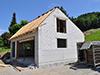 Garage en dépendance, érigé en briques silico-calcaires