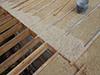 Isolation de toiture avec un mélange de chanvre en vrac et surtout de Chaux