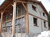 Construction écologique et économique en briques Chaux/chanvre, recouvertes d'un enduit traditionnel à la Chaux