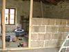 Cloison intérieure en briques minces de Chaux-chanvre