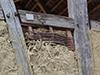Démonstration d'application au torchis (Ecomusée d'Alsace)