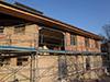 Mise en place avant la première phase de ravalement de façade