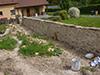 Mur en cours de restauration à la Chaux