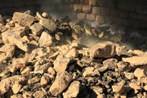 Les fameuses pierres à Chaux locales, cuites dans l'antre de nos Fours plus que centenaires