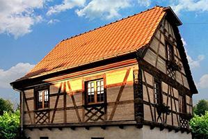 Construction d'une Maison alsacienne, avec banchage Chaux/chanvre