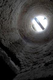 Intérieur d'un des neuf Fours à Chaux, plus que centenaires