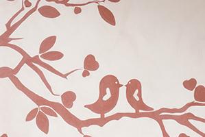 Fresque décorative à la Chaux