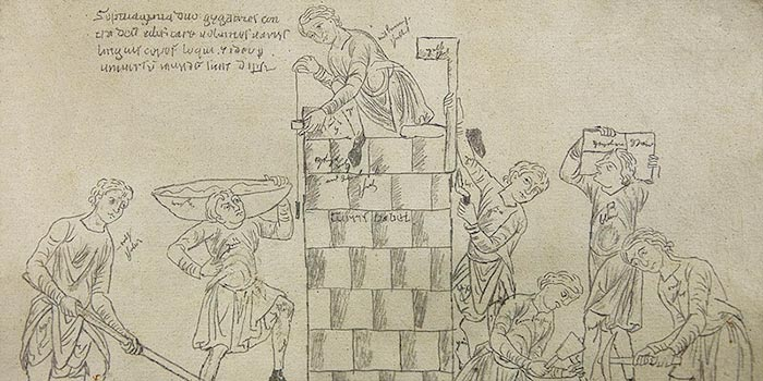 Calque du l'Hortus Deliciarum d'après les restes conservés de l'original