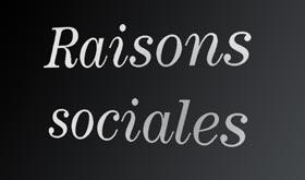 Raisons sociales